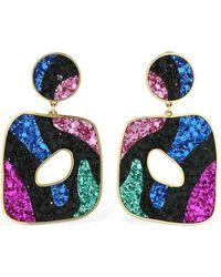 Shourouk - Savannah Glitter Earrings - Lyst