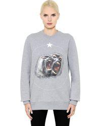 Givenchy - Monkey Printed Cotton Jersey Sweatshirt - Lyst