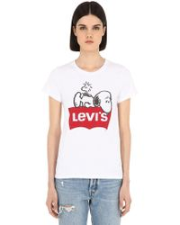 "Levi's - T-shirt ""snoopy"" In Cotone - Lyst"