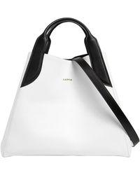 Lanvin - Medium Cabas Two Tone Leather Bag - Lyst