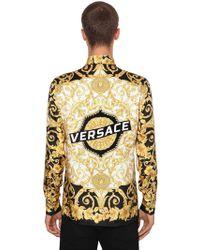 """Versace - """"Camicia """"""""heritage Hibiscus"""""""" In Seta"""" - Lyst"""