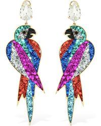 Shourouk - Glitter & Swarovski Parrot Earrings - Lyst