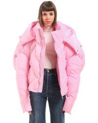 Chen Peng - Oversize Hooded Nylon Down Jacket - Lyst