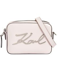 Karl Lagerfeld - K/signature Leather Camera Bag - Lyst