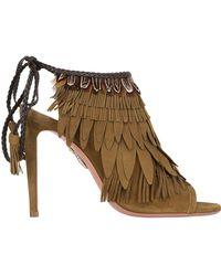 Aquazzura - 105mm Pocahontas Fringed Suede Boots - Lyst