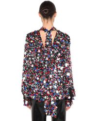 MSGM - Sequined Multi Colour Top - Lyst