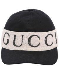 9b85ccde524 Lyst - Gucci Logo Band Baseball Cap In Black in Black for Men