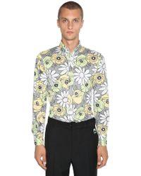 Prada - Camicia In Cotone Floreale - Lyst