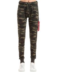 Alpha Industries - Camouflage Joggers W/ Pocket - Lyst