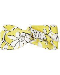 Valentino | Floral Printed Silk Headband | Lyst