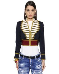 DSquared² - Cool Wool Short Jacket - Lyst