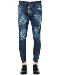 DSquared² - 16cm Sexy Twist Destroyed Denim Jeans - Lyst
