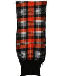 Stella McCartney - Wool Knit Bicolor Plaid Scarf - Lyst