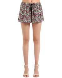Missoni - Lurex Wavy Knit Shorts - Lyst