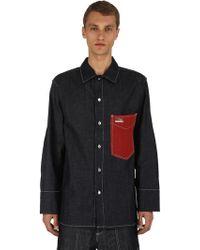 KENZO - Oversized Denim Shirt - Lyst