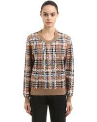 Burberry - Pull-over en laine mérinos à carreaux - Lyst