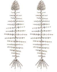 Saint Laurent - Crystal Fish Clip-on Earrings - Lyst