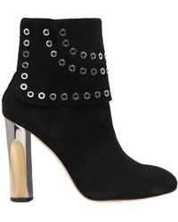 Alexander McQueen - 105mm Eyelets Suede Ankle Boots - Lyst