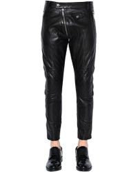 DSquared² - Pantalon Biker En Cuir 15cm - Lyst