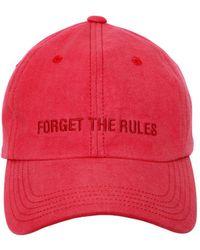 Juun.J - Embroidered Cotton Canvas Baseball Hat - Lyst