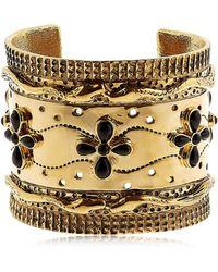 Aurelie Bidermann - Cheyenne Cuff Bracelet With Black Agate - Lyst
