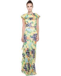 Isolda - Mo Usa Exclusive Maranhao Printed Silk Maxi Dress - Lyst