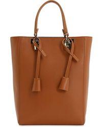 Giambattista Valli Leather Top Handle Bag - Brown