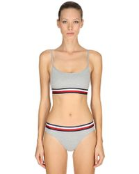 Tommy Hilfiger - Striped Band Cotton Bralette - Lyst