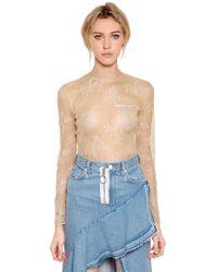 Off-White c/o Virgil Abloh - Sheer Lace Bodysuit - Lyst