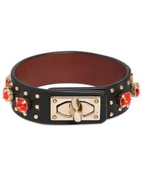 Givenchy | Leather Bracelet With Rhinestones | Lyst