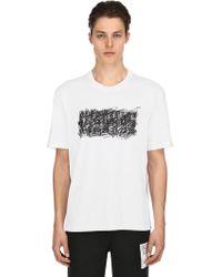 Maison Margiela - Scribble Logo Cotton Jersey T-shirt - Lyst