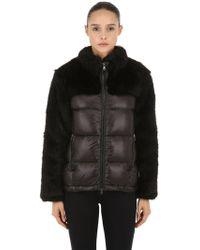 COLMAR ORIGINALS - Faux Fur & Nylon Down Jacket - Lyst