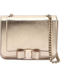 Ferragamo | Small Vara Rainbow Metallic Leather Bag | Lyst
