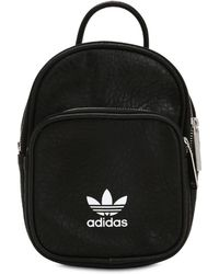 adidas Originals - Mini Classic Faux Leather Backpack - Lyst