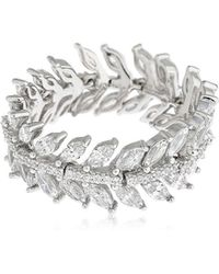 Apm Monaco - Silver Palme Ring - Lyst