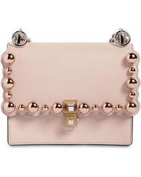 Fendi - Small Kan I Scalloped Beads Leather Bag - Lyst