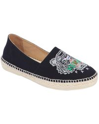 KENZO - Tiger Embroidered Canvas Espadrilles - Lyst