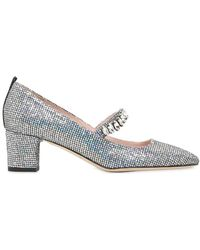 SJP by Sarah Jessica Parker - 50mm Dazzle Glittered Mary Jane Court Shoes - Lyst