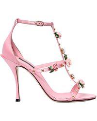 Dolce & Gabbana - 105mm Keira Embellished Satin Sandals - Lyst