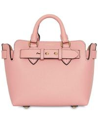 Burberry - Baby Leather Bag W/ Belt - Lyst