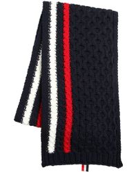 Thom Browne - Merino Wool Cable Knit Scarf - Lyst