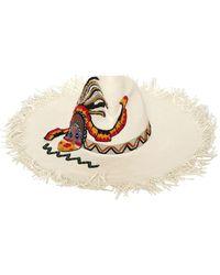 """Etro Cappello """"Maasai"""" Con Profili Sfrangiati - Bianco"""