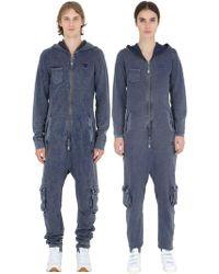 OnePiece - Denim Effect Cotton Piqué Jumpsuit - Lyst