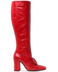Dorateymur - 90mm Sybil Leek Leather Tall Boots - Lyst