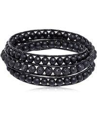 Colana - Onyx & Lava Beads Triple Wrap Bracelet - Lyst