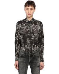 Saint Laurent - Yves Mexican Fête Cotton Shirt - Lyst