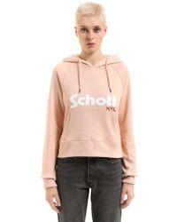 Schott Nyc - Hooded Cotton Sweatshirt - Lyst