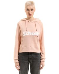 Schott Nyc - Hooded Cotton Sweatshirt - Lyst