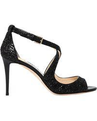 Jimmy Choo - 85mm Emily Glittered Sandals - Lyst