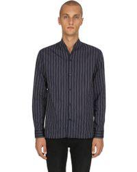 The Kooples - Pyjama Striped Light Cotton Shirt - Lyst